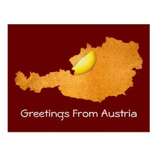 Viennese Schnitzel - Map Of Austria Postcard