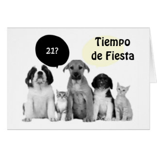 VIENTE UNO CUMPLEANOS=HAPPY 21st BIRTHDAY Greeting Card
