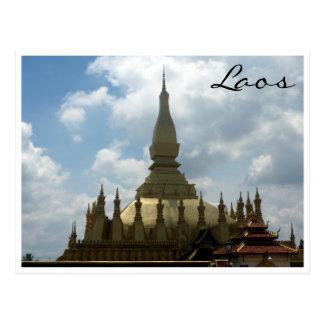 vientiane golden stupa postcard