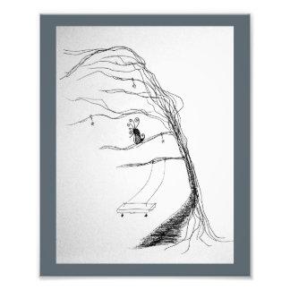 Viento a través de los árboles fotografías