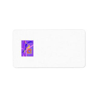 Viento abstracto y una ventana etiqueta de dirección