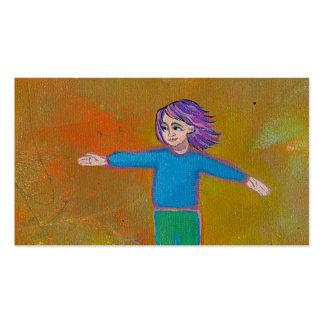 Viento colorido abstracto moderno de la mujer del tarjetas de visita