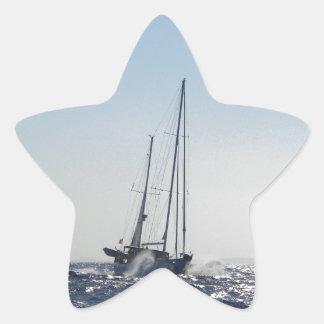 Viento de proa y Sun Colcomanias Forma De Estrellaes