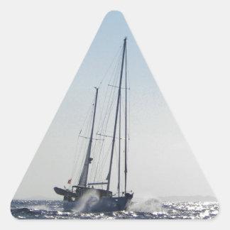Viento de proa y Sun Calcomanía De Triangulo Personalizadas