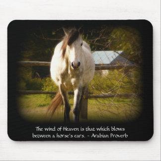 Viento del cielo - proverbio del árabe del caballo tapetes de raton