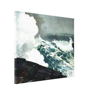 Viento del norte - pintura famosa de Winslow Homer Lienzo Envuelto Para Galerías