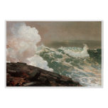 Viento del norte, Winslow Homer 1895 Poster