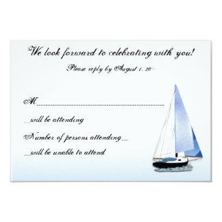 """VIENTO EN MI velero de la VELA que navega notas de Invitación 3.5"""" X 5"""""""