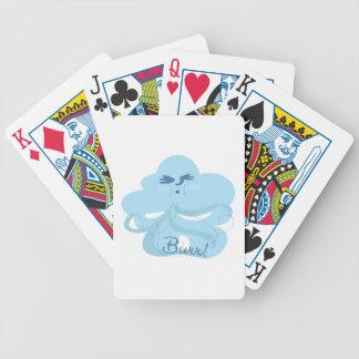 Viento frío cartas de juego