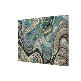 Viento - lona de arte abstracto impresión en tela