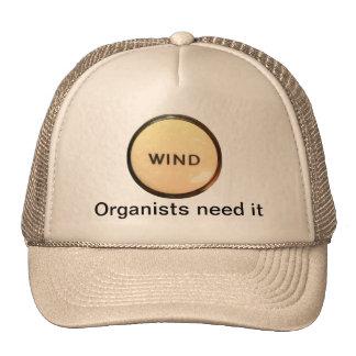 VIENTO - necesidad de los organistas él gorra