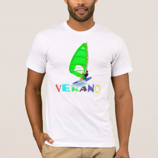 Viento que practica surf la camisa de Verano