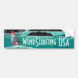 Viento que practica surf la pintura del arte de la pegatina para auto
