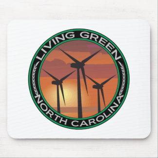 Viento verde Carolina del Norte Tapete De Raton