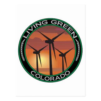 Viento verde Colorado Tarjetas Postales