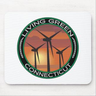 Viento verde Connecticut Alfombrillas De Ratones
