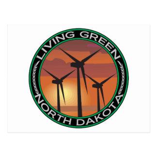 Viento verde Dakota del Norte Tarjeta Postal
