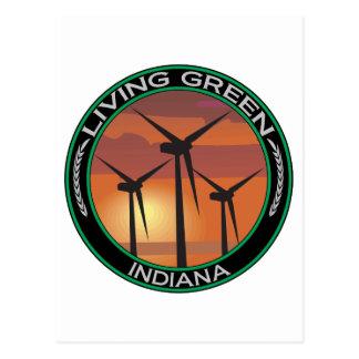 Viento verde Indiana Postal