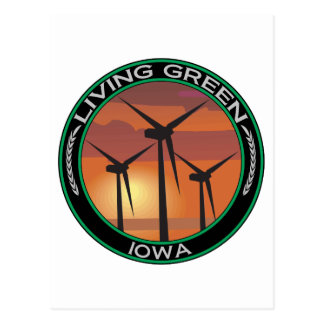 Viento verde Iowa Postales