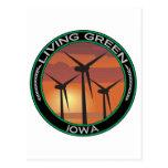 Viento verde Iowa Tarjetas Postales