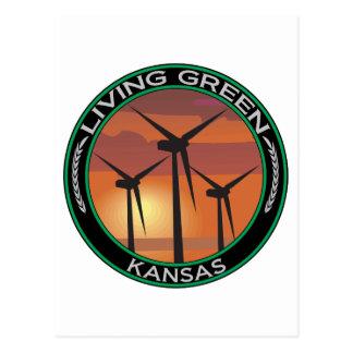 Viento verde Kansas Postal