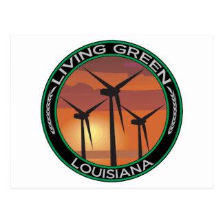 Viento verde Luisiana Postal