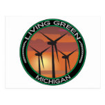 Viento verde Michigan Tarjeta Postal