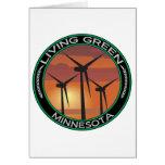 Viento verde Minnesota Tarjetón