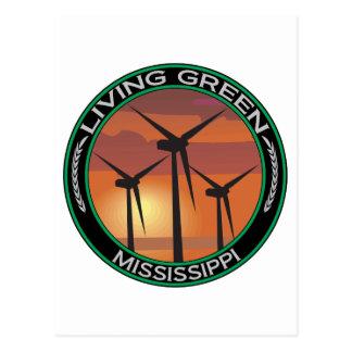 Viento verde Mississippi Postales