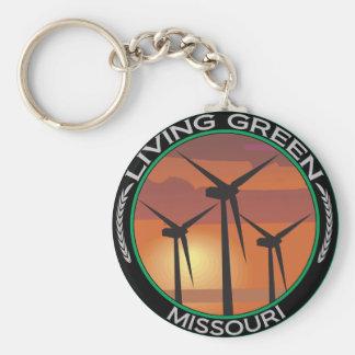 Viento verde Missouri Llavero Redondo Tipo Pin