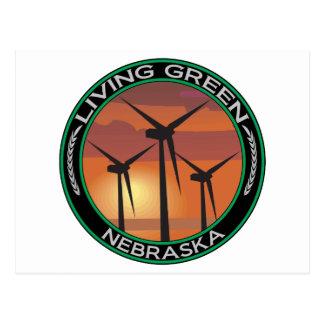 Viento verde Nebraska Postal