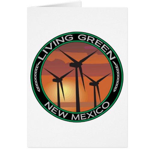 Viento verde New México Tarjeta De Felicitación