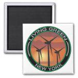 Viento verde Nueva York Imán Para Frigorifico