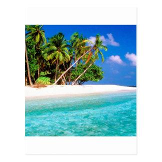 Vientos comerciales de la isla tropical maldivos postales