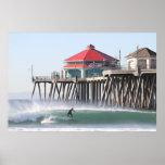 Vientos costeros de Santa Ana, Huntington Beach CA Póster