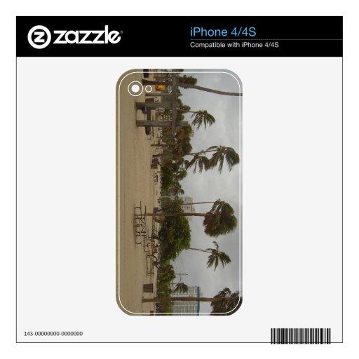 Vientos de la playa del pie Lauderdale fuertes iPhone 4 Skins
