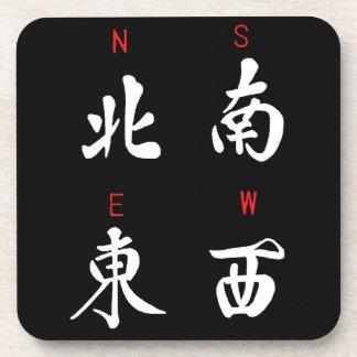 Vientos de Mahjong, juego del honor, (b) del norte Posavasos De Bebida