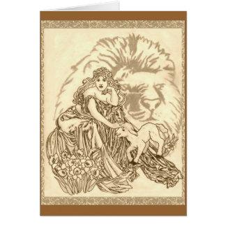 Vientos de marzo tarjeta de felicitación