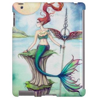 Vientos del arte de la fantasía de la sirena de Ir Funda Para iPad