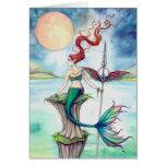 Vientos del arte de la fantasía de la sirena de Ir Tarjeton