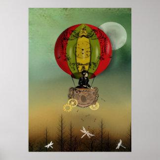 Vientos del arte de Steampunk del poster del cambi