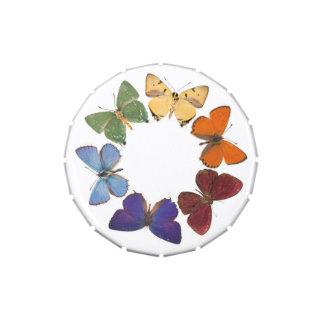 Vientre de la jalea con el anillo de la mariposa jarrones de dulces