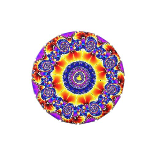 Vientre de la jalea del fractal jarrones de caramelos