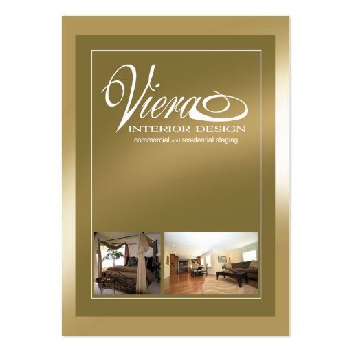 Viera Home Staging Interior Design Gold Business Card