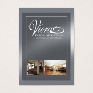 Viera Home Staging Interior Design (slate blue) Business Card