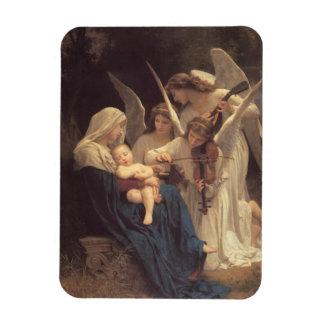 Vierge aux Anges Rectangular Photo Magnet