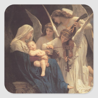 Vierge aux Anges Square Sticker