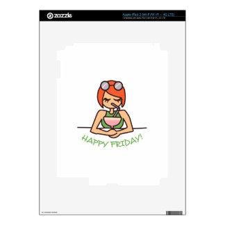Viernes feliz pegatinas skins para iPad 3