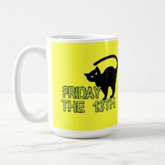 Viernes la décimotercero - superstición del día de tazas de café