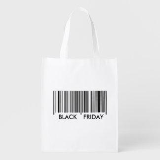 Viernes negro bolsa de la compra